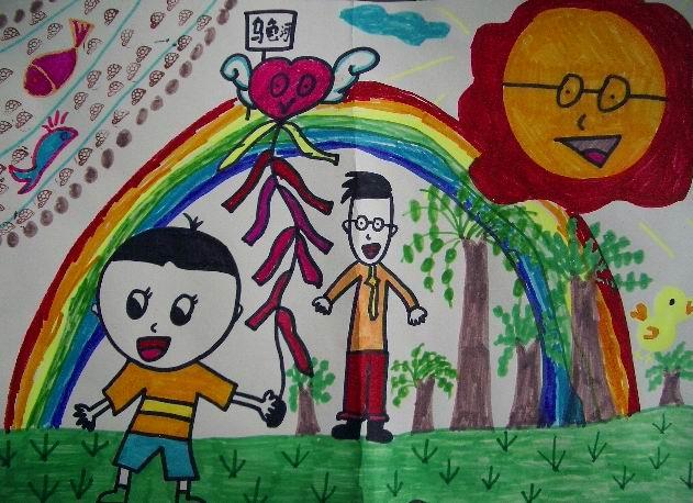 三年级美术作品欣赏 春天的脚步