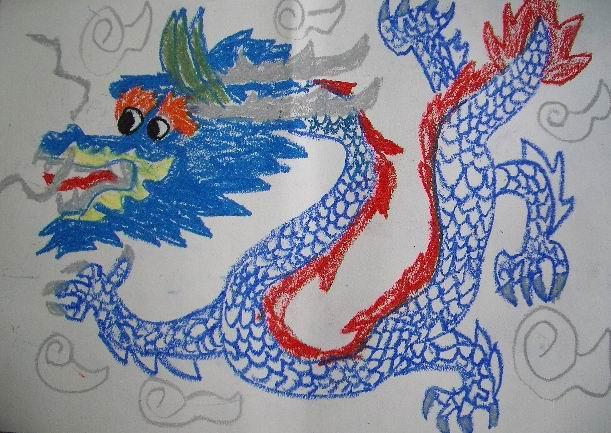 三年级美术作品欣赏 我们的龙